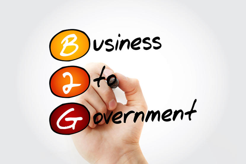 B2g - Business To Government Acronym With Marker, Business Conce