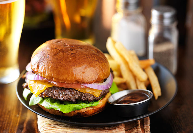 The Perfect Burger Classic Burger American Burger With Chicken,